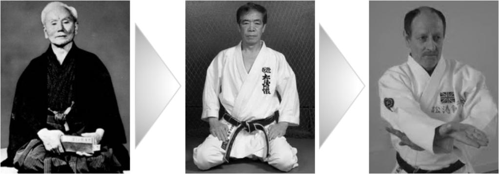Gichin Funakoshi, Hirokazu Kanazawa, Mick Randall MBE