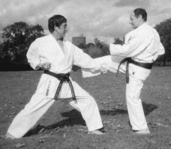 Hanshi Mick Randall with Hanshi Hirokazu Kanazawa